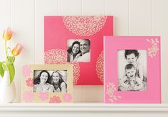 Martha Stewart Crafts™ Mother's Day Floral Doily Frames - coming soon