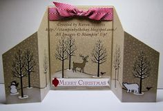 Stampin' By The Bay: White Christmas Stand Up Card