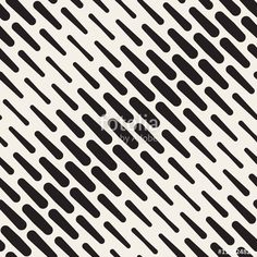 Vector: Vector Seamless Black and White Diagonal Rounded Lines Halftone Pattern