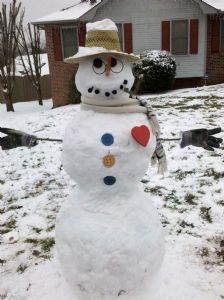 Snowman With A Heart