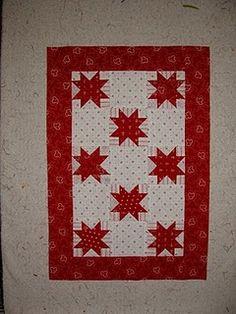Red & white Star Quilt