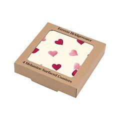 Buy Emma Bridgewater Pink Hearts Coasters, Set of 4 Online at johnlewis.com