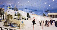 #Ski Dubai, the worlds largest snow-dome, at the Mall of the Emirates in Dubai, United Arab Emirates. Enjoy the #luxury of #Dubai #shopping #UAE. #Travel #Tourism #adventure