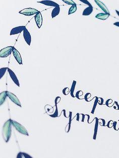 Deepest Sympathy Wreath Card | Sycamore Street Press