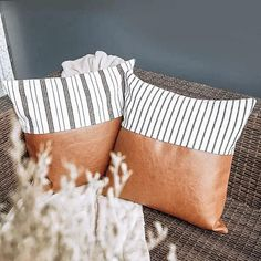 home accents shelves Leather amp; Linen Home Accent Pillows Woodbe Co. Sewing Pillows, Diy Pillows, Accent Pillows, Decorative Pillows, Throw Pillows, Linen Pillows, Scatter Cushions, My Living Room, Living Room Decor