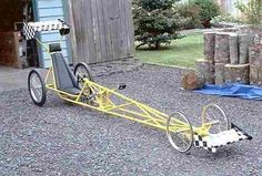 It's not a tadpole trike, but it is a recumbent quad. I doubt very much if you could pull wheelies or… Bmx Bikes, Cool Bikes, Motorcycles, Go Kart, Quad, Chopper Bike, Tandem Bicycle, Bicycle Maintenance, Bike Style