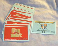 "Vintage ""Crown"" Cards, Deck ONLY for Avalon Hill's  KING MAKER, English Civil War Strategy Game, 80 Cards, most with only light wear, '70's by brotoys1 on Etsy"