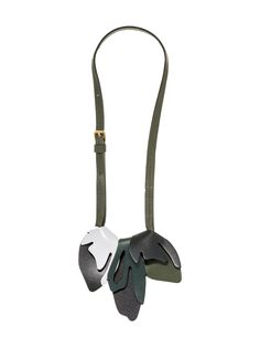 Leather Necklace With Two Color Flowers In Calfskin Women   Marni Online Store