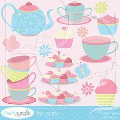 whimsical tea cup clipart