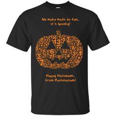 Halloween T shirts We Make Math So Fun It's Spooky Hoodies Sweatshirts