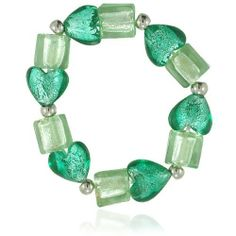 Pugster Green Heart And Square Murano Glass Bracelet Pugster. $14.99. Great to give away as presents, gifts to friends or family members.. Exquisitely detailed designer style. One free elegant cushioned Gift box available with every order from Pugster.. Meticulous fine jewelry craftsmanship. Money-back Satisfaction Guarantee.
