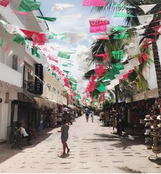 Mexican flags waving at Calle Playa del Carmen, Mexico Mexican Flags, Mexico, Street View, Waves, Art, Playa Del Carmen, Art Background, Kunst, Ocean Waves