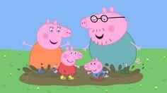 painel para decoração de festa infantil com o tema Peppa Pig