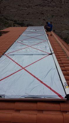 Instalación de captadores solares térmicos con sistema AQUA.
