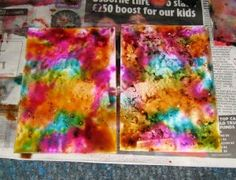 Alcohol inks and spray starch