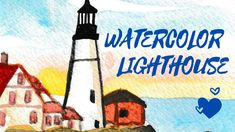 WATERCOLOR PAINTING/ Lighthouse