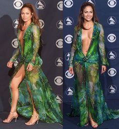 Most Iconic Dresses: Jennifer Lopez in Versace at the 2000 Grammy Awards. JobZoo | Fashion Design Booty #fashion
