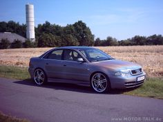 Silver Audi A4 B5 tuning