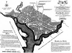The city plan of Washington D.C