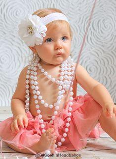 Baby Headband Headwrap Baby White Headband Baby by BySophiaBaby