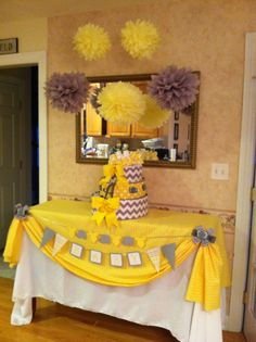 @Christina Childress & Warnes Kuhn  Wrong colors but cute idea for using plastic table clothes