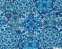 Butterfly Carnival - Garden Arabesque - Sky Blue from equilter.com #blue #print