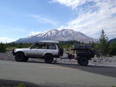 LX450 and Horizon Trailer by Mt. St. Helens. #LX450, #Adventuretrailer, #Horizon, #overlanding