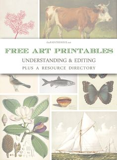 Working with free art printables: A complete guide to understanding and editing...plus an extensive resource directory | The Painted Hive
