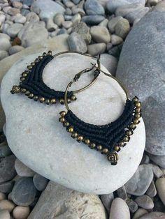 Macrame Bronze earrings creolen