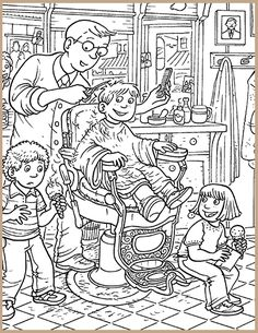 time for a haircut classroom highlightscom find the hidden objects best hidden pictures printableskids coloringadult