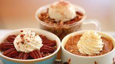 Microwave Mug Pies, Pumpkin Pie, Pecan Pie, Apple Pie, Apple Crisp, Gemma Stafford, Bigger bolder baking