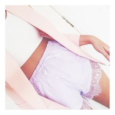 Soft lavender sleep shorts with lace trim. Perfect for loungewear or even summer style!