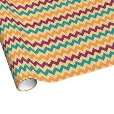 Multi-Colored Wide Chevron Wrapping Paper