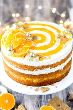 Rezepte: Kuchen & Torten Here you will find a simple recipe for a Christmas mandarin cake with a fin Mandarin Cake, Berry Smoothie Recipe, Easy Smoothie Recipes, Coconut Milk Smoothie, Homemade Frappuccino, Caramel Pudding, Pumpkin Spice Cupcakes, Food Cakes, Birthday Cakes