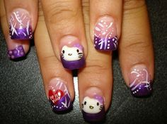 Amazing hello kitty nails <33