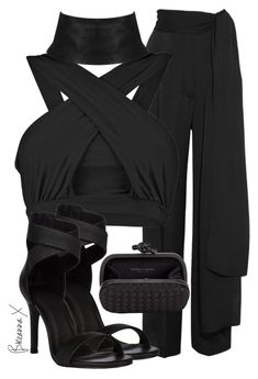 """Untitled #2807"" by breannamules ❤ liked on Polyvore featuring Lanvin, Boohoo and Bottega Veneta"
