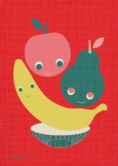 Wishing well fruit basket