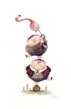 Tweedle Dee & Tweedle Dum- link is in Russian, but it lists the artist there.