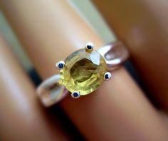 Belle  Genuine Thai Golden Sapphire  OOAK Ring by CeeMonkeyDo