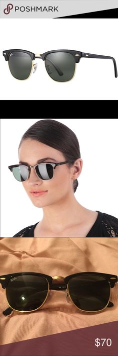 Ray Ban club master 3016 sunglasses Excellent condition! 100% authentic. Black and gold! ☀️open to trades. Ray-Ban Accessories Sunglasses