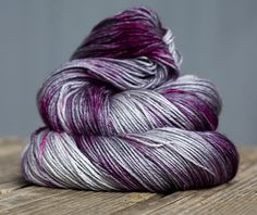 Bluefaced Leicester and Silk Hand dyed yarn - 100g