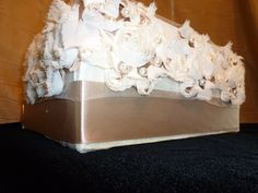 #Elegantly #Ruffled in #Taupe #Champagne #Velvet from Our #Signature #Aisle #roses#Collection #Custom #Couture #CakeStand for #Wedding #Bridal #Shower or Special #Event www.cakeitupcakestands.com