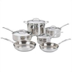 Cuisinart Chef's Classic Stainless Steel 10-Piece Cookware Set #MarkTaylorDreamRoom