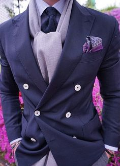 Purple Trend: Stunning Fall Get Up in various shades of Purple. More Fashion Trends @ rickysturn/mens-fashion