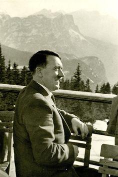 Hitler at the Berghotel Predigtstuhl near Berchtesgaden