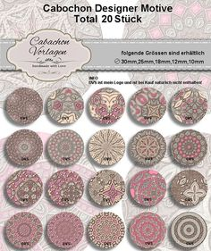4 size includet Collage Sheet 25mm18mm14mm12mm by CaboDesigner