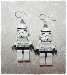 E Lego Star Wars Storm Trooper Earrings Full by EVILandENCHANTED, $30.00 Lego Parts, First Photograph, Colorful Fish, Affordable Jewelry, Lego Star Wars, Silver Color, Geek Stuff, Stars, Nerdy