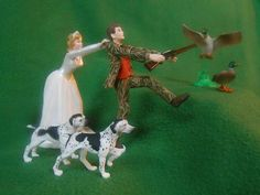 funny,wedding cake topper,real tree,camo,camoflauge,hunting,DUCK hunter groom | eBay