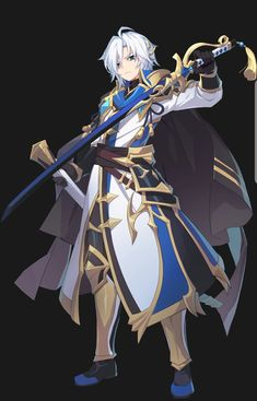 Pin by g on grandchase in 2019 Game Character, Character Concept, Character Design, Fantasy Characters, Anime Characters, Hot Anime Guys, Anime Boys, Seven Knight, Dragon Knight