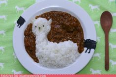 alpaca noms - I'm going to have to do this next time I make japanese curry rice...